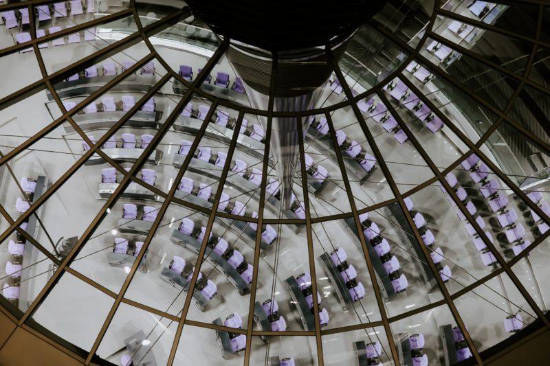 Bundestagskuppel Vogelperspektive