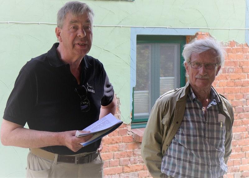 Prof. Wilkens und Rolf Bonkwald